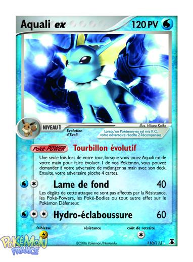 News week end ex esp ces delta pyroli ex et aquali ex pok mon france - Carte pokemon aquali ...