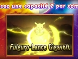 Pokemon Soleil Lune - Capacite Z electrique