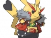 Pokemon ROSA - Pikachu Rockeur