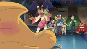 Iris veut protéger Dracolosse, qui est blessé!