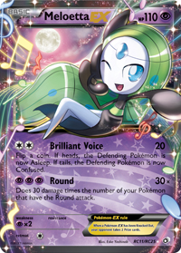 Meloetta EX de Legendary Treasures
