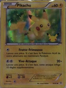 Carte holographique Pikachu