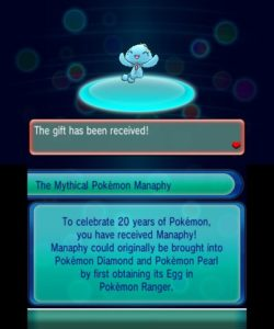 Manaphy Cadeau Mystere