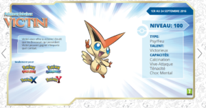 Pokémon 20 - Distribution de Victini