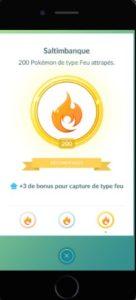 médaille saltimbanque pokémon go