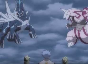 Dialga et Palkia se préparent à obéir à Hélio.
